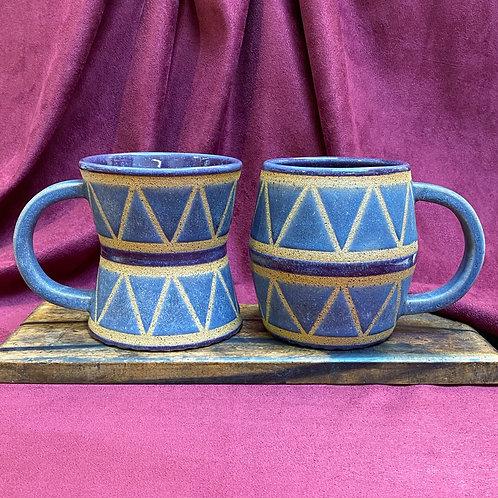 Purple Drum Mug Set