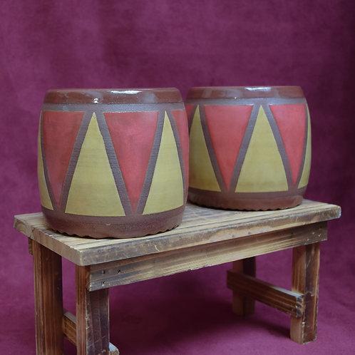 Matching Drum Pots