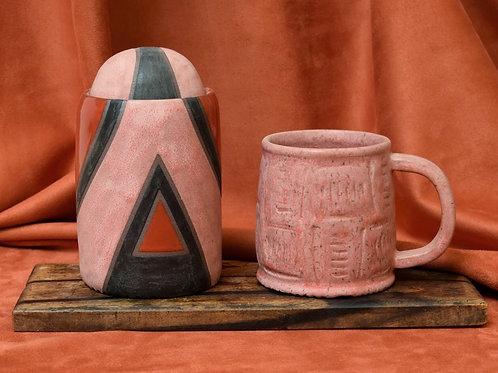 Cherry Mug and Jar Set