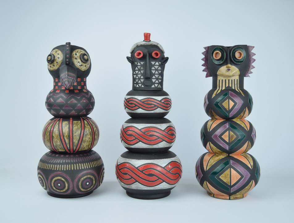 African Mask Planters