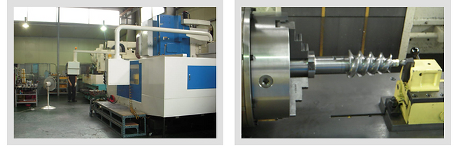 feed screw extrder spare parts processing