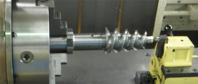 SCREW machining center process work type of EXTRUDER TWIN SHAFT