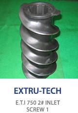 Extru-tech E.T.I 750 inlet screw