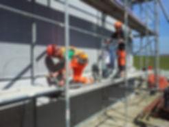Unterfüttern von Betonelementen mit der WPS-Mörtelpumpe