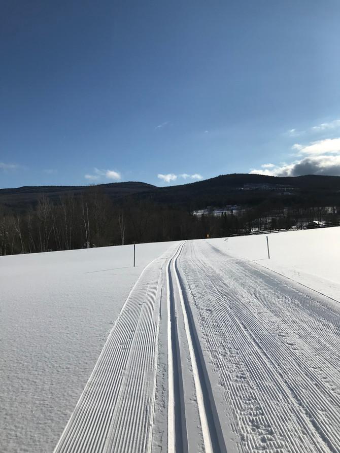 Nice and cold and nice and fast skiing
