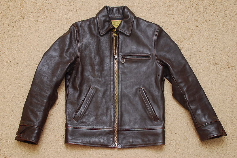 1930s VINTAGE REPRO The Real McCoys Joe McCoy Leather Jacket Dark Brown 36