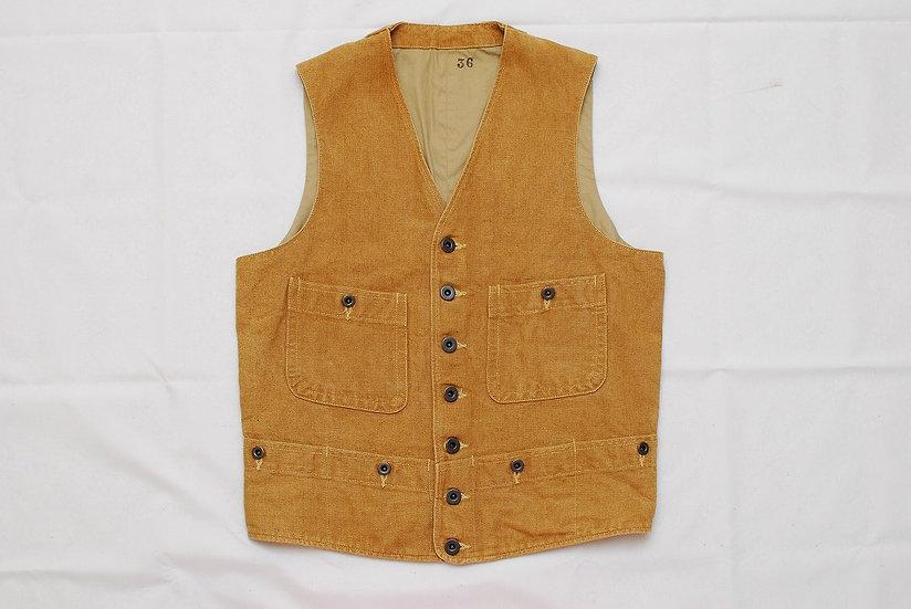 Mister Freedom Sugar Cane Range Vest Brown 36