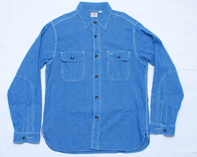 Sugar Cane Blue Shirt M 15 - 15 1/2