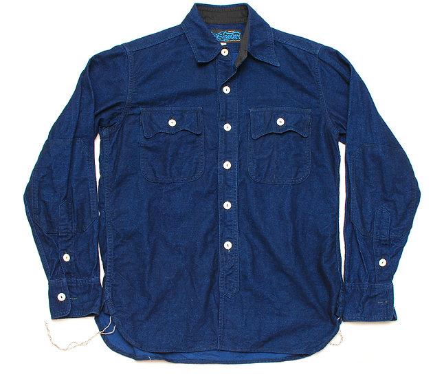 RARE! Mister Freedom Garrison Shirt Indigo-Dyed Frannelette S