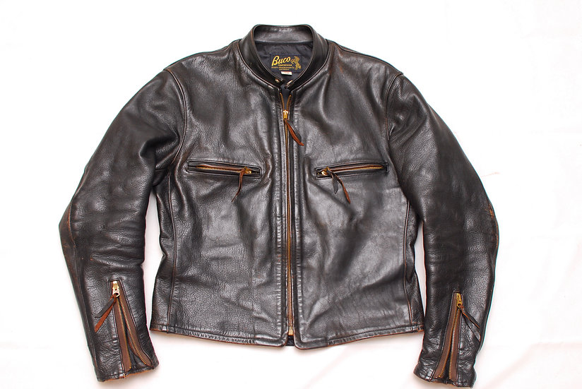 1990s Vintage REPRO The Real McCoys Buco J-57 Motorcycle Leather Jacket 38 j-100