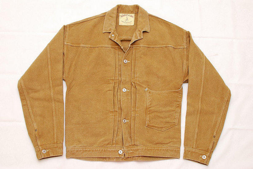 Hellers Cafe Nonpareil Brown Duck Jacket 42