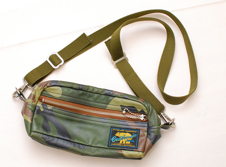 California MFG Rainbow Country Cowhide Camo Shoulder Bag Porch