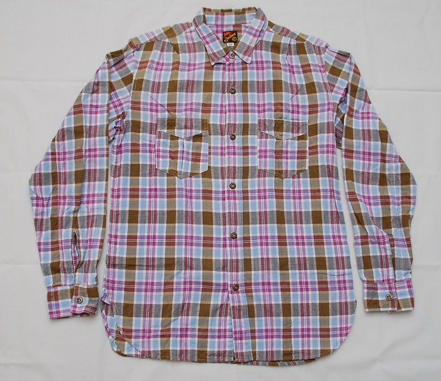 Mister Freedom Indian Madras Shirt L 16 - 16 1/2