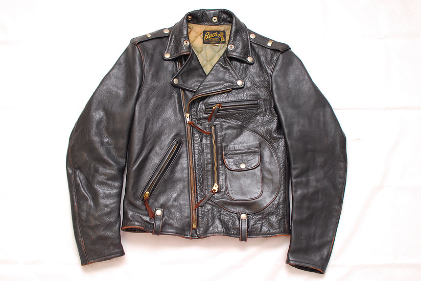 1990s Vintage REPRO The Real McCoys Buco J-88 Motorcycle Leather Jacket 34