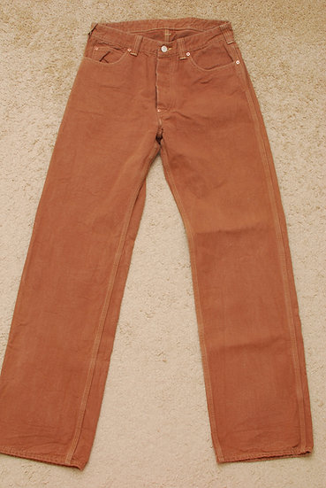 1920S VINTAGE REPRO WAREHOUSE & Co, Brown Duck Pants w32