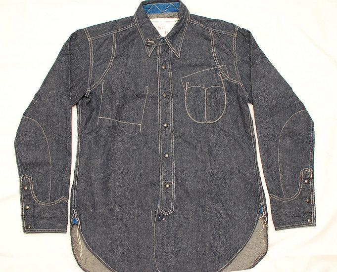 RARE! NEW! Mister Freedom Denim Utility Shirt XL