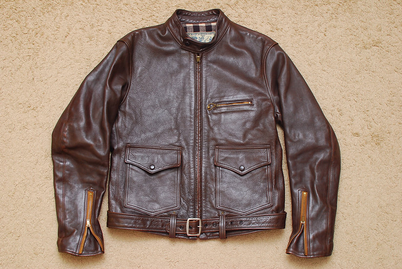 1930s Vintage REPRO The Real McCoys Joe McCoy Rider Leather Jacket 40