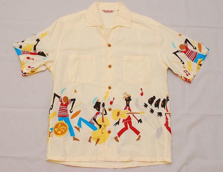 Mister Freedom ROCK'n'ROLL Shirt Rocket 88 Edition hawaiian aloha L