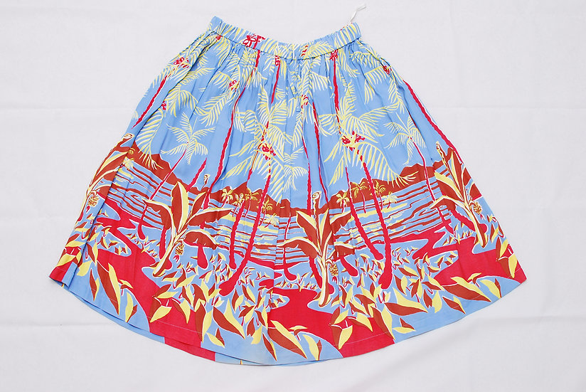 Clover Leaf Hawaiian Aloha Skirt sugar cane sun surf