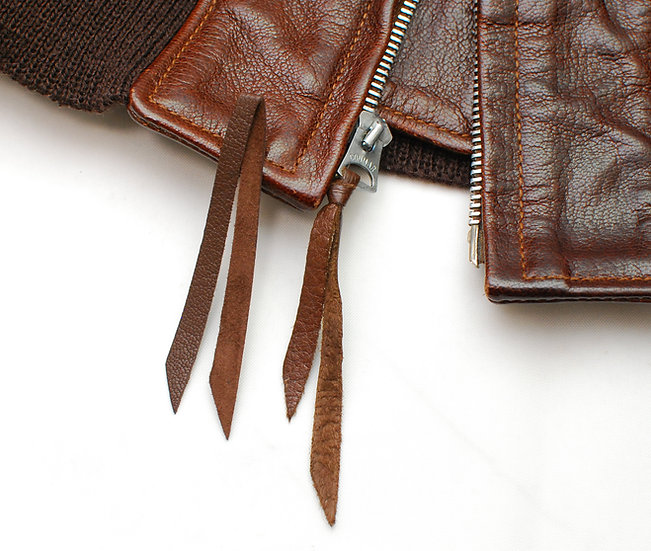 REPRO Goatskin zipper pull tab for M422, M422a, AN-6552, AN-J-3A, G-1
