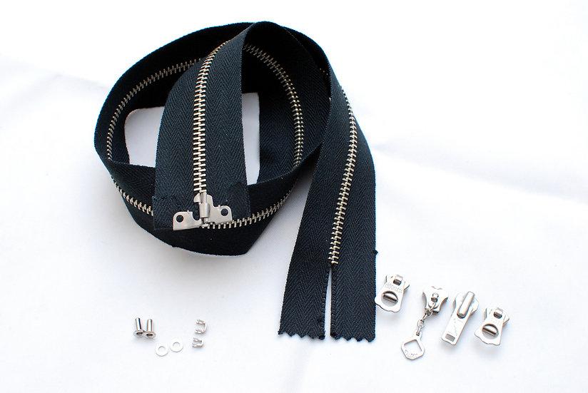 Grommet Zipper Repair kit Black Tape Nickel