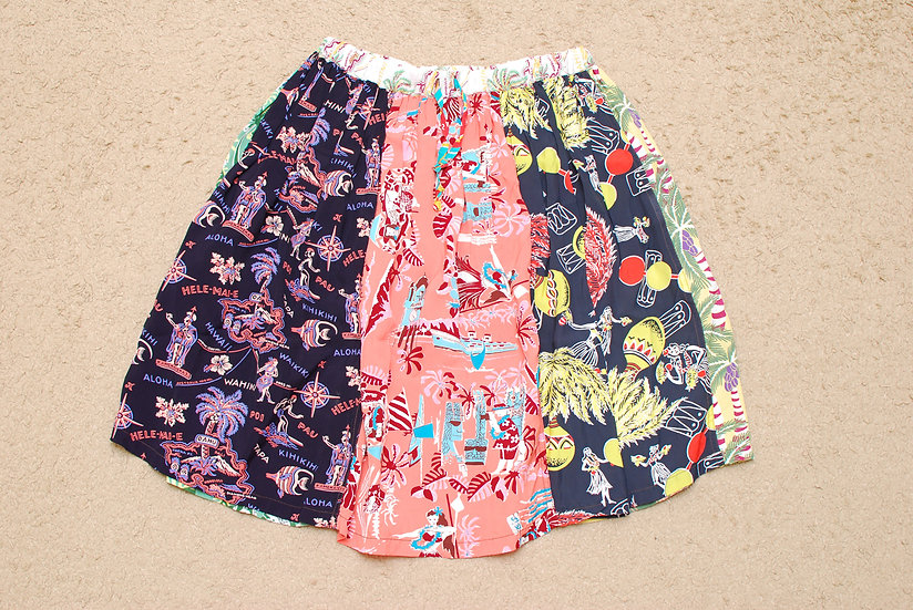 BEAMS BOY SUN SURF Hawaiian Aloha Crazy Pattern Skirt