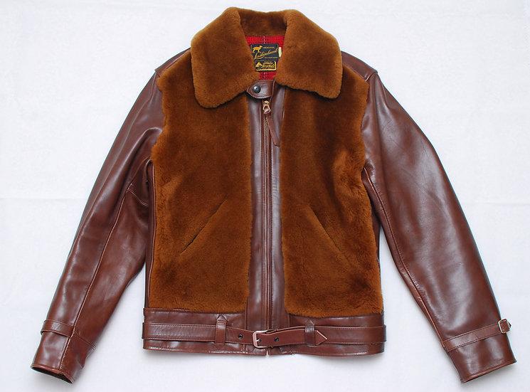 TO-YO- ENTERPRISE Sugar Cane Laskin Lamb Grizzly Jacket 38