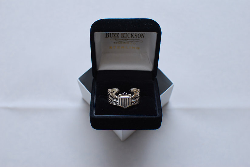 WW2 1940s REPRO Buzz Ricksons A.A.F Wing Ring size 19