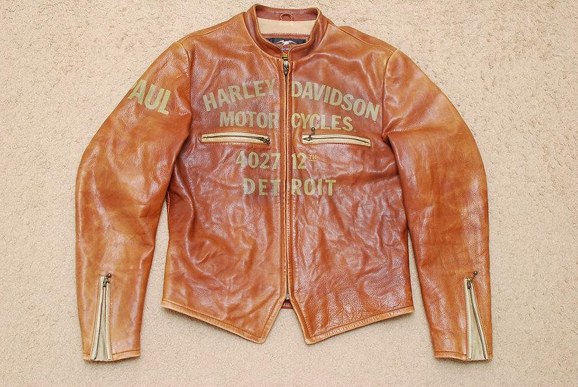Vintage Repro Harley Davidson Leather Jacket L