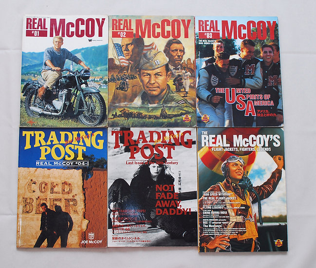 Rare!! 1996-2000 year The Real McCoys Catalog Book 6 books