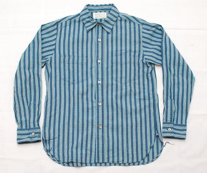 Sugar Cane Cotton Stripe Check Shirt 15 - 15 1/2
