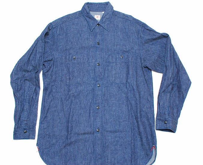 Vintage Repro Sugar Cane Denim Shirt L 16 - 16 1/2