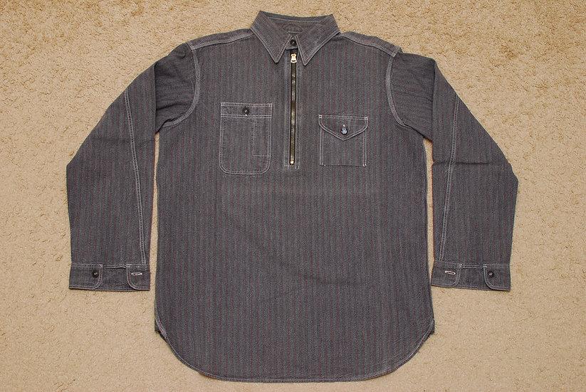 1930s VINTAGE REPRO WAREHOUSE & Co, Harf Zip Shirt 38 talon zipper big yank