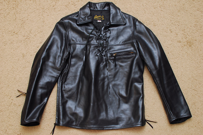 1960s Vintage REPRO The Real McCoys Buco Pullover Leather Jacket 38