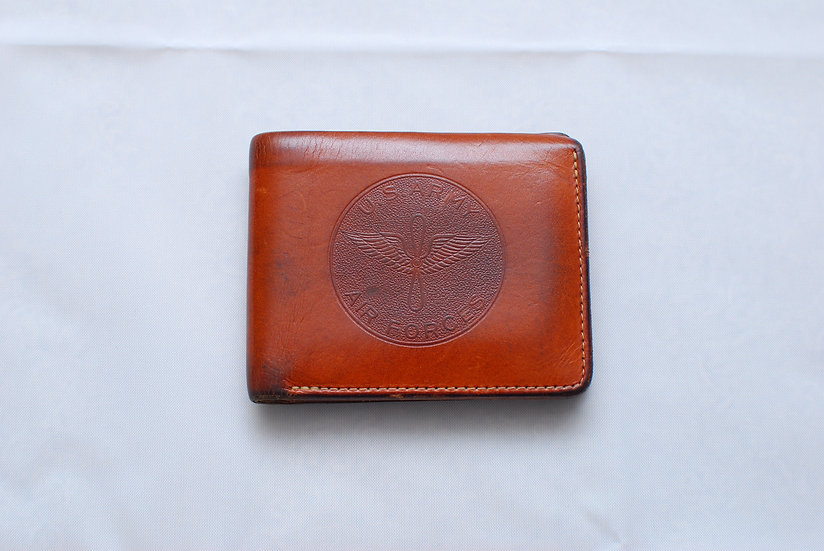 WW2 1940s REPRO The Real McCoys Leather Wallet Billfold