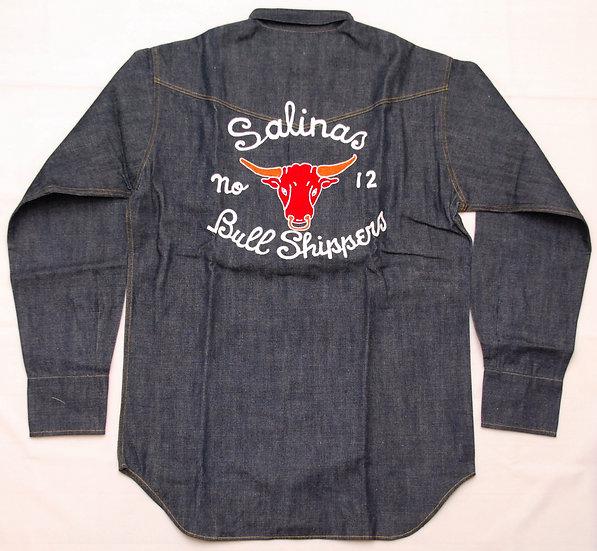 Dead Stock! 1998y WAREHOUSE & Co. 100 Limided 1940s Denim Western Shirt L