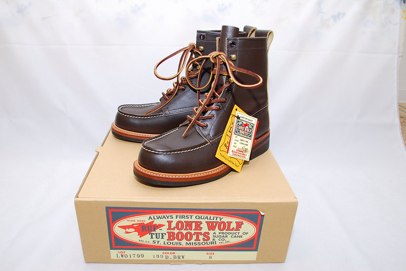 Sugar Cane Lone Wolf Wood Cutter Work Boots US 8D