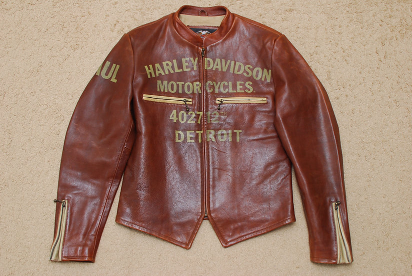 Vintage Repro Harley Davidson Leather Jacket M