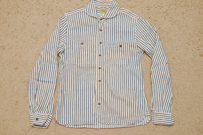BEAMS BOY SUGAR CANE Mister Freedom Fabric use Stripe Shirt Women Boys