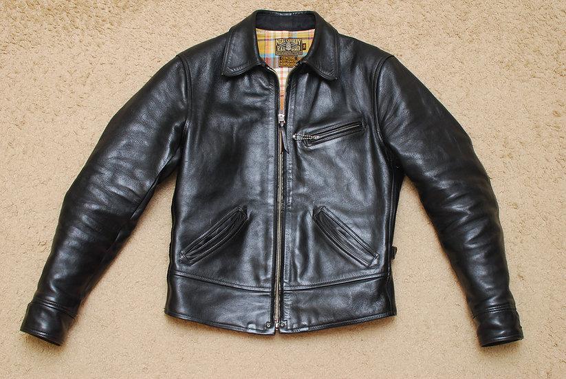 Bootleggers Freewheelers Caboose Horse Hide Leather Jacket 36