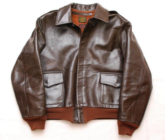 WW2 REPRO 1990s Frais Reve A-2 Horsehide Jacket L? XL?