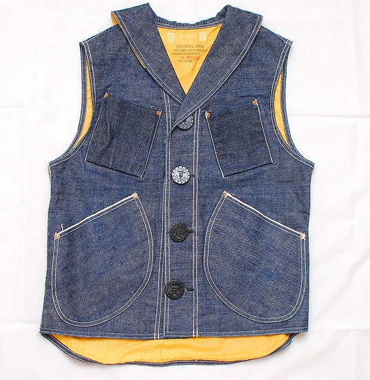 RARE!! NEW!! Mister Freedom Denim Signal Vest Medium M