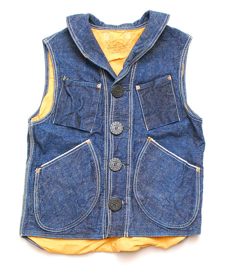 RARE!! Mister Freedom Denim Signal Vest Medium M