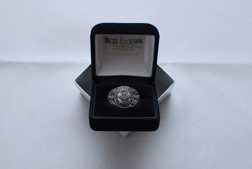 WW2 1940s REPRO Buzz Ricksons A.A.F Ring size 19