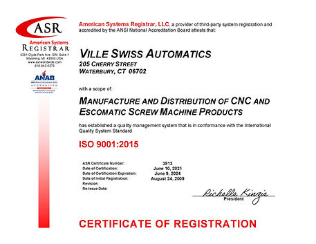 Ville Swiss Automatics ISO 9001 Certificate June 2021.jpg