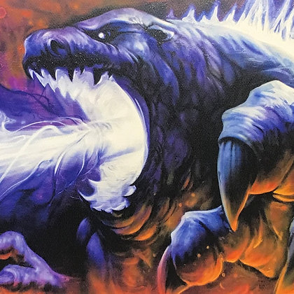 """King of Monsters"" Signed Watercolor Print"