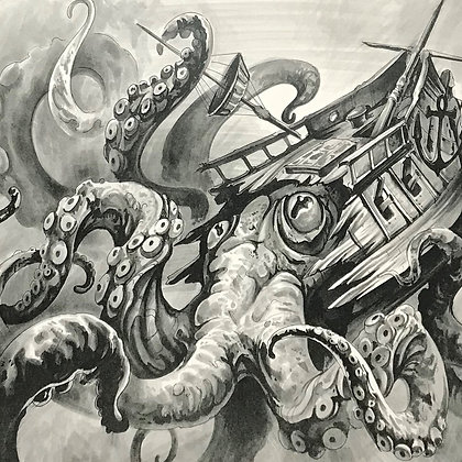 """Home Is Where The Kraken Is"" Limited Edition Matte Print"