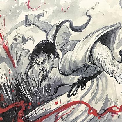 """Musashi"" Watercolor Print"