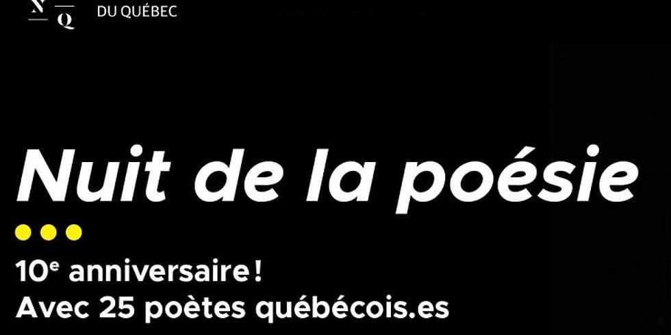 Nuit de la poésie - Festival Québec en toutes lettres