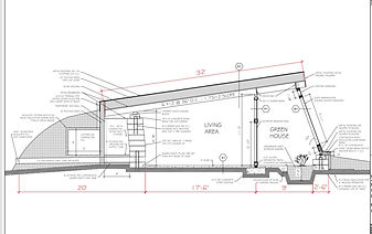 talking trees northern climate Earthship plans drawings modified side view
